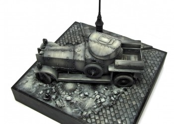 Модель бронеавтомобиля British Armoured Car RODEN 1/35 от Tsimb