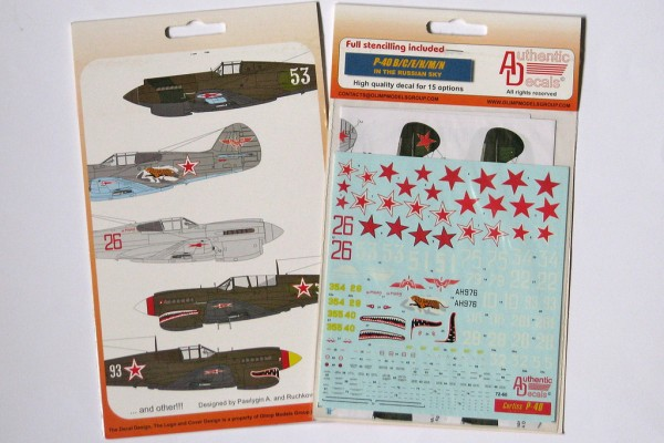 Обзор декали P-40 In The Russian sky: Советские Томагавки Authentic Decals 1/72 от foxbot